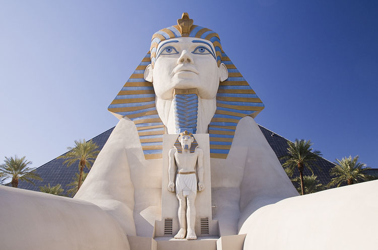 Sphinx in front of the Luxor Hotel