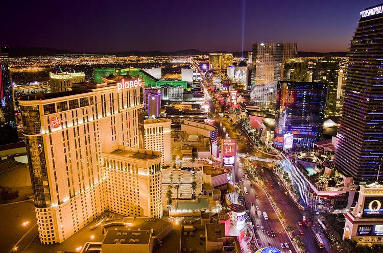The Las Vegas Strip, south from Paris